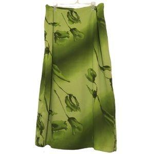 Giorgio Fiorlini Green Floral Skirt